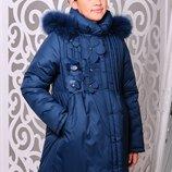 Акция до 5.11 цена ̶8̶8̶0̶ 750 грн Зимняя куртка для девочки Герда волна