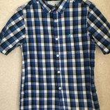 Стильная рубашка в клетку на мальчика 10-11 лет