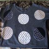Оригинальный серый свитер реглан в состоянии нового