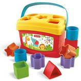 Fisher-Price Сортер - ведерко Brilliant Basics Baby's First Blocks