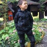 Спортивные костюмы мальчикам, очень теплые, трехнить, начес, рост 98 - 140