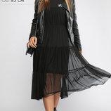 Ультрамодное двойное платье свежий модный тренд