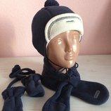 Фирменный утеплённый набор Шапка плюс шарф плюс рукавички Original Marines.Италия
