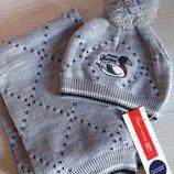 Фирменный набор Шапка плюс шарф Original Marines.Италия
