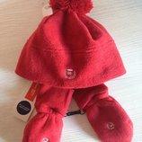 Фирменный утеплённый набор Шапка плюс рукавички Original Marines.Италия