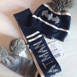 Фирменный утеплённый набор Шапка плюс шарф Original Marines.Италия