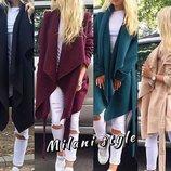 Женское пальто накидка кашемир