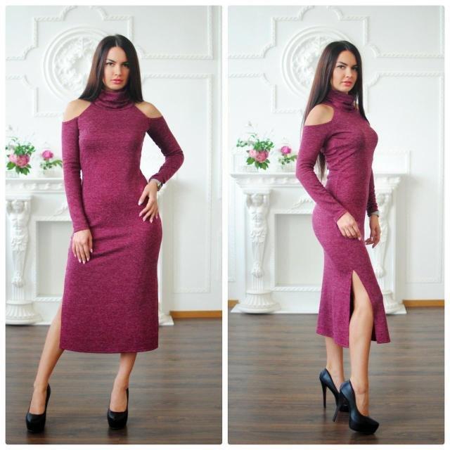 Продано  Женское бордовое теплое платье миди - повседневные платья в  Днепропетровске (Днепре), объявление №14512948 Клубок (ранее Клумба) 13bf82dfe8d