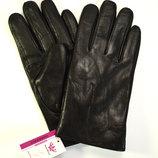 Мужские кожаные перчатки на махре.
