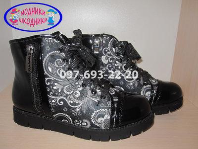 Ботинки на девочку арт.2817-45-15 р.32-37 B&G демисезонные, сапоги биджи ботинки на дівчинку демі