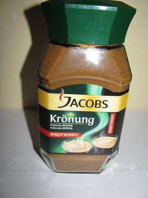 Кава розчинна Jacobs Kronung ESPRESSO Оригінал з Чехії 200 грам