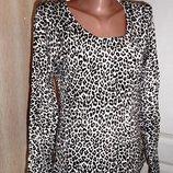 Леопардовый свитер акрил, лайкра, ог 92-100