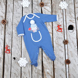 Человечек слип комбинезон для новорожденного на новый год Снеговик
