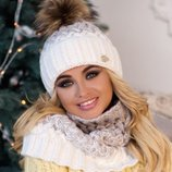 Комплект «Вилена» шапка и шарф-хомут Braxton, цвета разные