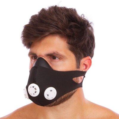 Тренировочная маска аэробная Training Mask 5324 3 клапана, универсальный размер