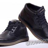 Кожаные классические зимние ботинки Hilfiger B - 8 черные