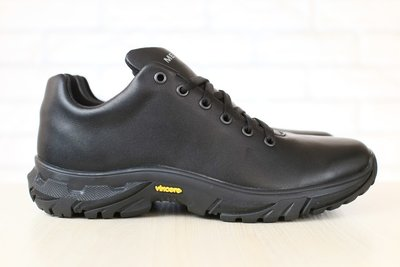 Мужские демисезонные, спортивные ботинки, кожаные, черные