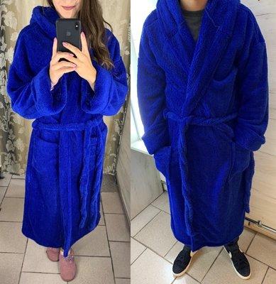 Однотонный мужской - женский махровый халат