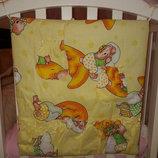Навесной карман на детскую кроватку. Разные цвета