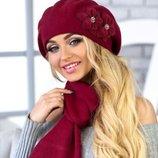 Комплект «Бэсси» берет и шарф Braxton, цвета разные