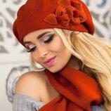 Комплект «Олли» берет и шарф Braxton, цвета разные