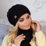 Комплект «Коссандра» шапка шарф Braxton, черный