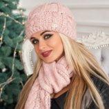 Комплект «Камелия» шапка и шарф Braxton, цвета разные