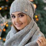 Комплект «Нобелия» шапка и шарф-снуд Braxton, цвета разные