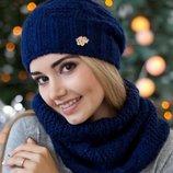 Комплект «Нобелия» шапка и шарф-хомут Braxton, цвета разные