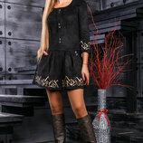 Очаровательное платье с замша 874