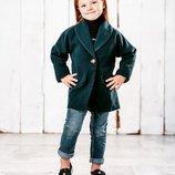 Демисезонный жакет 110-128 р. на девочку, турецкий кашемир, пиджак, пальто, курточка, куртка, демі