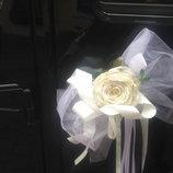 Украшения на машину «Свадебный шик»
