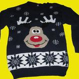 Новогодний свитер,размер M-L.SAPPHIRE