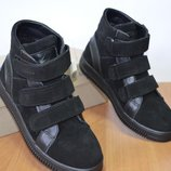 детские ботинки на липучке.демисезонные на байке