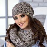 Комплект «Денвер» шапка и шарф-снуд Braxton, цвета разные