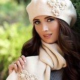 Комплект «Бархатцы» берет и шарф Braxton, цвета разные