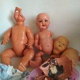 Цена за 3.Kämmer & Reinhardt антикварная старинная кукла на реставрацию коллекционная зубки