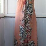 Платье шифоновое макси, бисер, клепки, Wallis, длинное, в пол