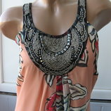 Платье футляр шифоновое макси, бисер, клепки, Wallis, длинное, в пол, трапеция