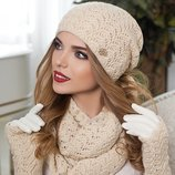 Комплект «Франческа» шапка, шарф-снуд и перчатки Braxton, цвета разные