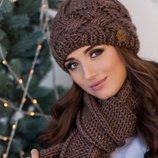 Комплект «Дюран» шапка и шарф Braxton, цвета разные