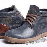 Кожаные зимние ботинки Clarks Double RL синие