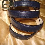 женский ремень Anthoni Brown оригинал кожа Германия идеал синий