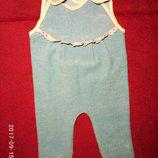 Набор бодиков 2 штуки,человечек,боди,пижама,слип,комбинезон,ползун,песочник,ромпер, б/у