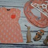 1 - 2 года 86 - 92 см Туника майка футболка для модницы шикарная модная и эффектная кошка кошечки