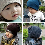 Детская осенняя трикотажная шапка шапочка MJ Kids, косичка