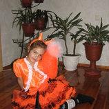 костюм лисички карнавальный,праздник осени,новый год.