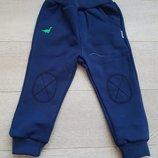Теплые спортивные штаники Бемби р.80-92