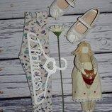 1 - 2 года 80 - 86 см Нежные модные фирменные легинсы лосины с совами