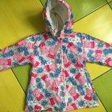 Обалденная утепленная куртка дождевик с Пеппа Peppa George 1-1.5г